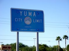 Yuma,Arizona!      Fred and Florence were married in Yuma.