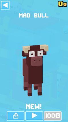 I got a mad bull on Crossy Road