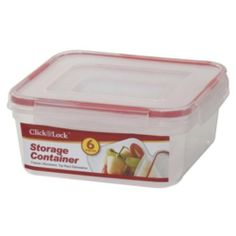 6-Pc Square Plastic Container W/Click & Lock Lid (24 Pack) by DDI. $235.38. 100% Satisfaction Guaranteed.. All of the products showcased throughout are 100% Original Brand Names.. High quality items at low prices to our valued customers.. Please refer to the title for the exact description of the item.. We proudly offer free shipping. We can only ship to the continental United States.. 6 piece square plastic container set w/click & lock lids. Three containers with lids. Size...