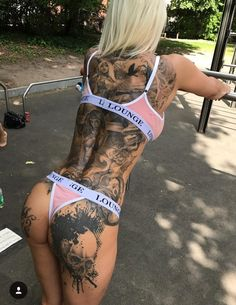 Beautiful blonde tattoos multiple piercings milf 2018