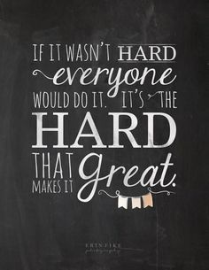 And it makes it even better when you achieve it!