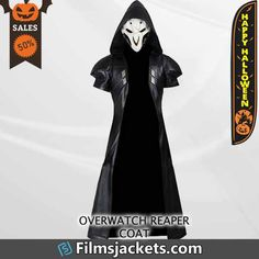 Film Jackets, Long Jackets, Long Leather Coat, Leather Trench Coat, Reaper Costume, Overwatch Reaper, Vest Coat, Popular Videos, Halloween Costumes