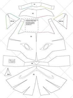 Naruto Kakashi Anbu Mask - & Letter Size PDF Template (Ready to Print) Child + Adult Size Instruções Origami, Paper Crafts Origami, Origami Naruto, Japanese Mask, Japanese Dogs, Cosplay Tutorial, Cosplay Diy, Mascara Anbu, Kakashi Anbu Mask