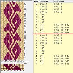 16 tarjetas 2 colores, repite cada 12 movimientos // sed_1028 diseñado en GTT ༺❁