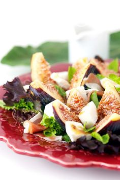 Salada de Figos e Presunto.