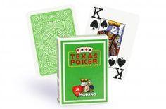 Cartes Modiano Texas Poker (vert clair) - Pokeo.fr - Jeu de 52 cartes Modiano 100% plastique Texas Poker de couleur verte clair.