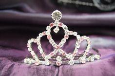 Beautiful Bridal Wedding Tiara Crown Pink Crystal « Dress Adds Everyday