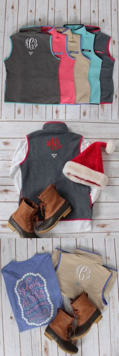 Columbia Monogrammed PFG Harborside™ Fleece Vest | Marleylilly.com
