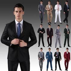 >> Click to Buy << Good Quality (Jackets+Pants) 2015 New Men Suits Slim Custom Fit Tuxedo Brand Fashion Bride groom Business Wedding Groom Suits #Affiliate