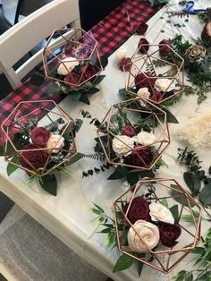 Unique Geometric pink and burgundy floral wedding centerpieces #burgundy #geometricwedding #weddingcenterpiece #floralcenterpiece #geometriccenterpiece #pinkandburgundy #burgandy #burgundy #fallwedding #autumncenterpiece #fallcenterpiece #fallwedding #autumnwedding #burgundywedding #fallcenterpiece #diyweddingcenterpieces