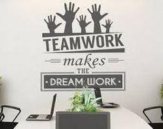 Teamwork Makes The Dream Work   Teamwork   Office Wall Art   Corporate    Office Supplies   Office Decor   Office Sticker   SKU:TWRK