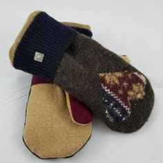 This item is unavailable Sweater Mittens, Wool Sweaters, Upcycle, My Etsy Shop, Slippers, Trending Outfits, Unique Jewelry, Handmade Gifts, Check