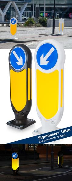 The non-illuminated, Signmaster™ Ultra rebound traffic bollard offers high grade reflectivity with optimum performance and minimal ongoing maintenance. Passively safe drive-through performance proven to BS EN – Safe Drive, Sign Lighting, Rebounding, A Team, Marker, Chevron, Minimal, Posts, Board