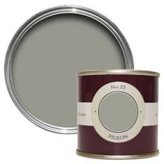 Test out your favourite Farrow & Ball colours at home – this sample pot covers up to per on average. Farrow Ball, Farrow And Ball Paint, Pigeon, Farrow And Ball Kitchen, Small American Kitchens, Dry Well, Paint Samples, Mole, Living Room Grey