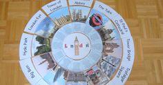 """Legekreis """"London""""       Nun ist auch endlich der Legekreis  zum Thema """"London"""" fertig. Der Legekreis gibt erste Einblicke in bekannte Seh..."""