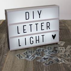 DIY Lightbox Letter Lamp. Hopefully there are different font options because this one just detracts from the whole thing.