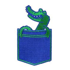 Embroidered Pocket Gator Patch by Jason Sturgill  Valley Cruise Press www.valleycruisepress.com
