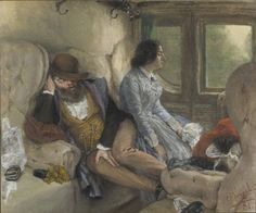 The morning after an overnight journey on the railway (Adolph von Menzel )