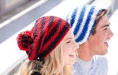 Slouchy Knit Hat Pat