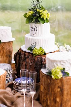 Love this deconstructed wedding cake! Great way t save money Wedding Decorations, Table Decorations, Cake Table, Fall Wedding, Wedding Cakes, Celebration, Weddings, Money, Ideas