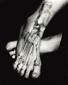 Bone/FeetbyKatherine Du Tiel, part of theinside/outside series.  #anatomy #feet #photography