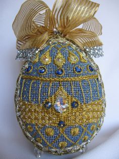 Needlepoint Fabrege eggs
