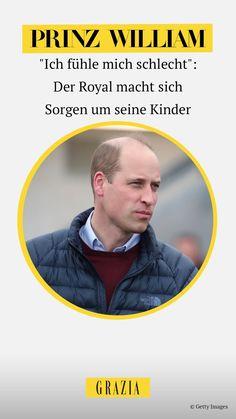 """Prinz William hat in einem Interview mit dem """"BBC"""" gestanden, dass er sich schlecht fühle wegen seiner beiden jüngsten Kinder Charlotte und Louis. Warum? Das erfahrt ihr hier! #grazia #grazia_magazin #prinzwiliam #royals #royalkids #william #cambridge Prinz William, Cambridge, Bbc, Not Interested"""