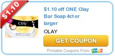 Tri Cities On A Dime: $1.10 COUPON ON 1 OLAY BAR SOAP  4CT OR LARGER
