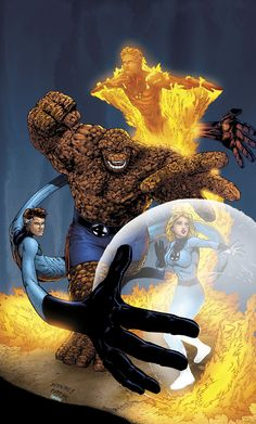 Fantastic Four commission by bennyfuentes. Fantastic Four commission by bennyfuentes. Marvel Comics Superheroes, Hq Marvel, Disney Marvel, Marvel Heroes, Captain Marvel, Comic Book Heroes, Comic Books Art, Comic Art, Book Art