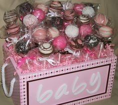 cake pops baby shower cake popsbaby girl by ViktoriasSweetBoutiq - what about for a bachelorette??