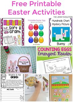 Who's ready for some Easter educational fun? Let's continue the learning fun with more than 10 free printable Easter worksheets. Easter Activities For Kids, Spring Activities, Easter Crafts For Kids, Preschool Crafts, Easter Ideas, Easter Games, Easter Projects, Easter Decor, Kids Fun