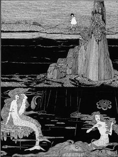 1920, untitled, by the Irish illustrator Harry Clarke, circa 1910–1930