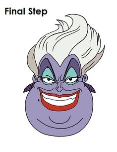 Learn how to draw Ursula from The Little Mermaid with this step-by-step tutorial and video. Easy Disney Drawings, Cartoon Drawings, Easy Drawings, Ursula Disney, Walt Disney, Disney Drawing Challenge, Disneyland, Disney Sleeve, Disney Villains