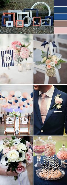 navy blue wedding color ideas for 2017 trends