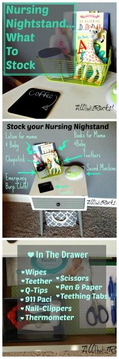 Stock your nursing nightstand with these essentials!