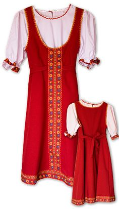 Traditonal Rus clothing from http://www.rusclothing.com/specials/n--girl-dress-elena/