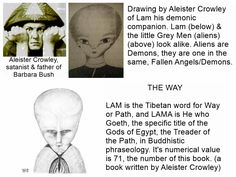 READ PHOTO SMALL PRINT. Aliens are not aliens, they are demons going through walls, they are the fallen angels. Their offspring are solid/fleshy hybrid beings.