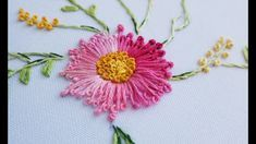 Wonderful Ribbon Embroidery Flowers by Hand Ideas. Enchanting Ribbon Embroidery Flowers by Hand Ideas. Hand Embroidery Videos, Embroidery Stitches Tutorial, Hand Embroidery Flowers, Simple Embroidery, Silk Ribbon Embroidery, Embroidery For Beginners, Hand Embroidery Patterns, Sewing For Beginners, Embroidery Thread