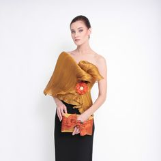 Ditta Sandico is a visionary fashion designer that embraces an ecological-friendly design and sustainable production process. Modern Filipiniana Dress, Filipino Fashion, Philippines Fashion, Barong, Western Dresses, Red Carpet, One Shoulder, Vogue, Design Inspiration