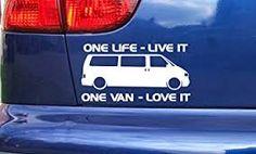 Vw Transporter Van One Life Live It Stickers Decals Volkswagen Volkswagen, Van Living, Cricut, One Life, Camper Van, Custom Stickers, Marvel, Live, Vehicles