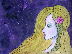 Buy Starry Night, Drawing by Riana van Staden on Artfinder. Discover thousands of other original paintings, prints, sculptures and photography from independent artists. Paintings For Sale, Original Paintings, Disney Characters, Fictional Characters, Aurora Sleeping Beauty, Sculptures, Van, Wall Art, Disney Princess