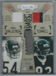 2004 Hogg Heaven Leather Quads Urlacher Terrell Bears 4 Jersey Patch Card #/25 $39.99 Free Shipping