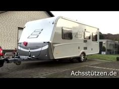 Achsstützen -Kipptechnik ohne Wagenheber, Wohnwagen aufbocken, Caravan R...