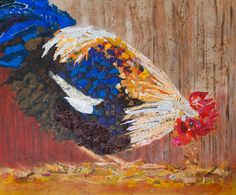 Rooster collage – Cow Art and More