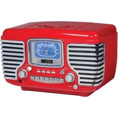 Wake up in retro style with this Crosley Corsair Alarm Radio and CD Player . This alarm clock, radio, and CD player is functional and fabulous.