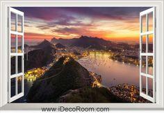 3D Brazil Rio De Janeiro window wall sticker art decal IDCCH-LS-000160