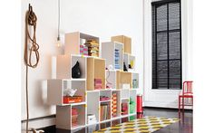 Stacked Shelf Design Within Reach from Design Within Reach. Shop more products from Design Within Reach on Wanelo. Modular Bookshelves, Modular Shelving, Shelving Systems, Storage Shelves, Storage Room, Shelf System, Modular Storage, Book Shelves, Easy Shelves