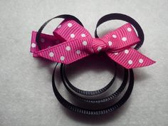 Minnie Mouse bow by tiedtke412 on Etsy, $3.00