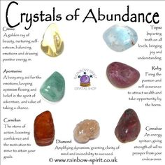 Rainbow Spirit crystal shop - Crystal healing properties in a poster of crystal for abundance and good fortune Crystal Shop, Crystal Magic, Crystal Grid, Citrine Crystal, Chakra Crystals, Crystals And Gemstones, Stones And Crystals, Gem Stones, Wicca Crystals