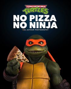 No Pizza. No Ninja. #NinjaTurtles #TeenageMutantNinjaTurtles #Michelangelo
